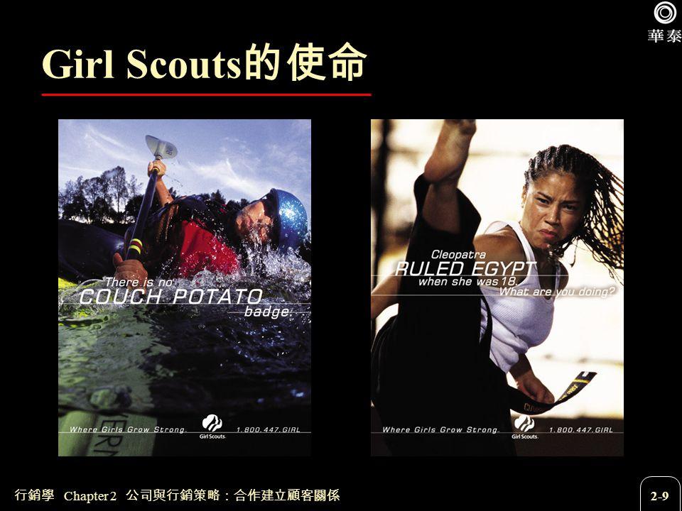 Girl Scouts的使命 行銷學 Chapter 2 公司與行銷策略:合作建立顧客關係