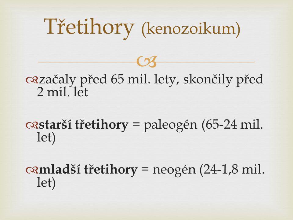 Třetihory (kenozoikum)