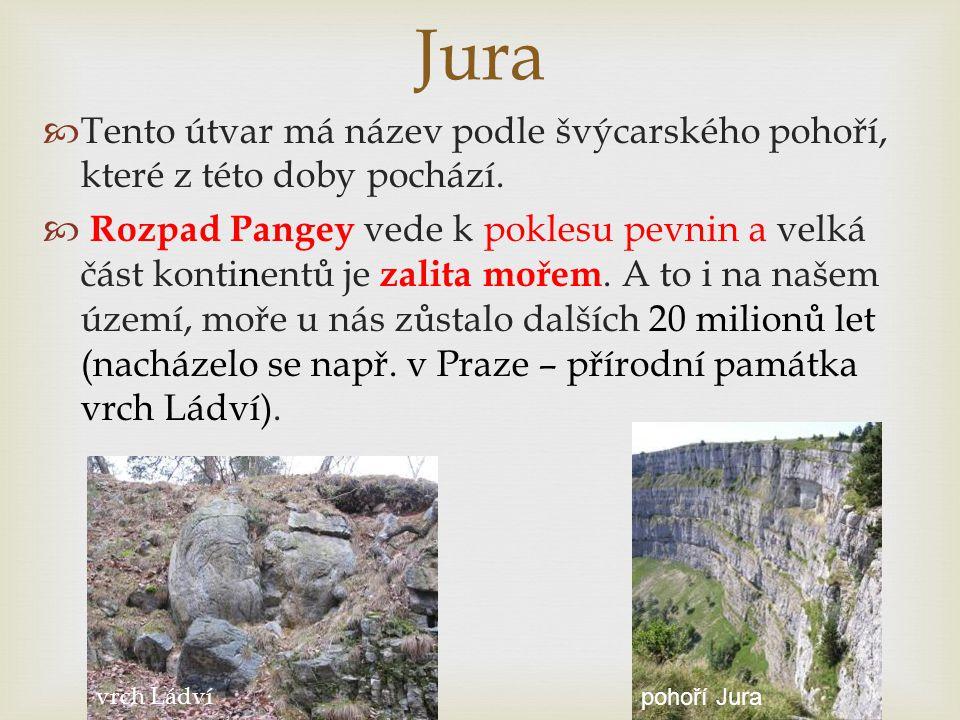 Jura Tento útvar má název podle švýcarského pohoří, které z této doby pochází.