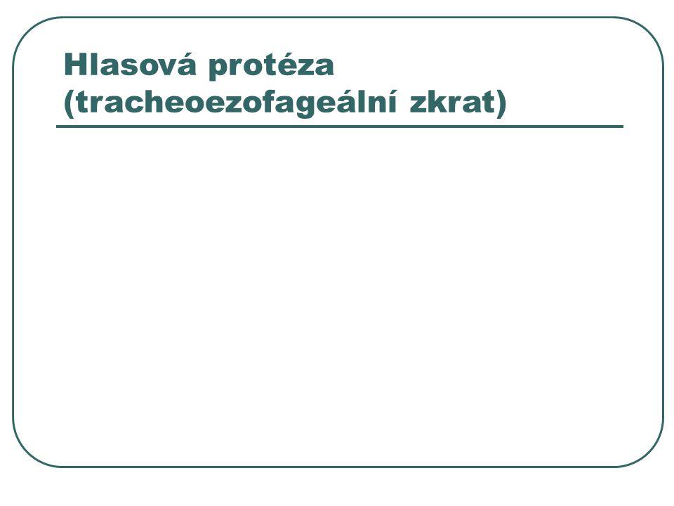 Hlasová protéza (tracheoezofageální zkrat)