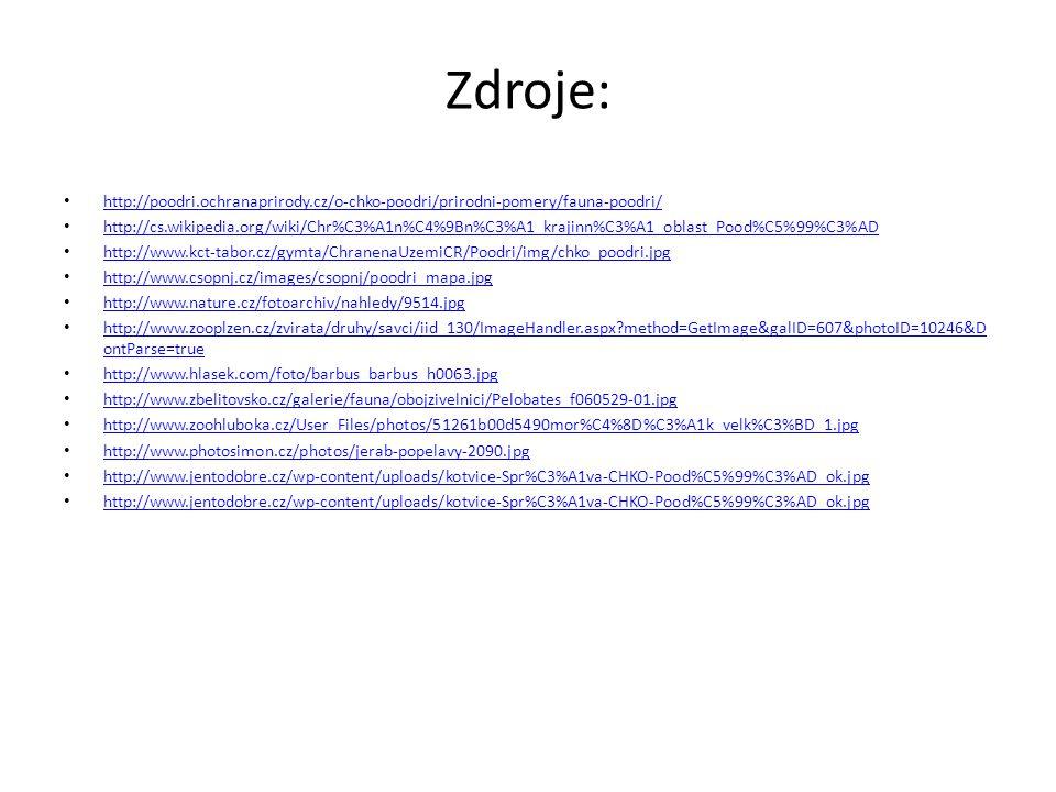 Zdroje: http://poodri.ochranaprirody.cz/o-chko-poodri/prirodni-pomery/fauna-poodri/