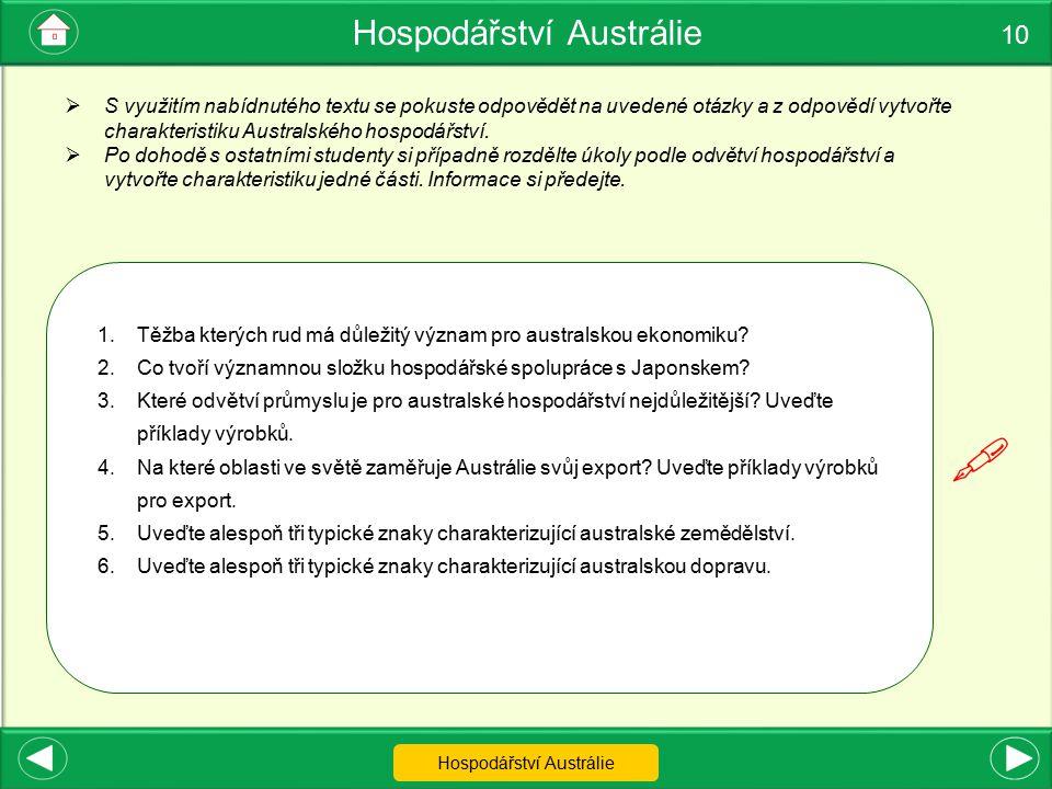  Hospodářství Austrálie 10