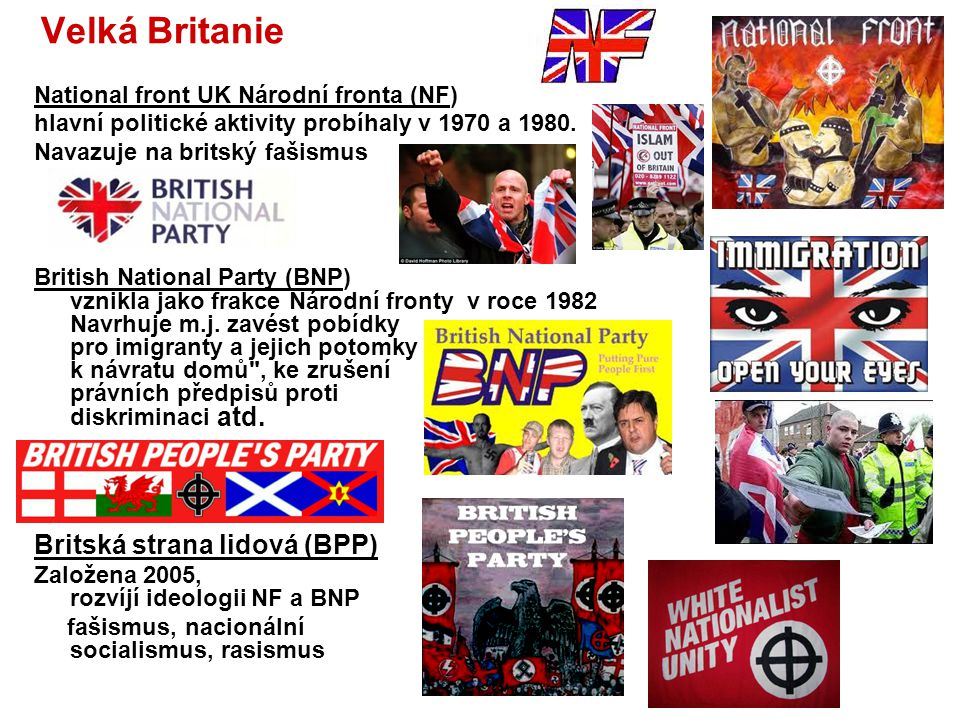 Velká Britanie Britská strana lidová (BPP)