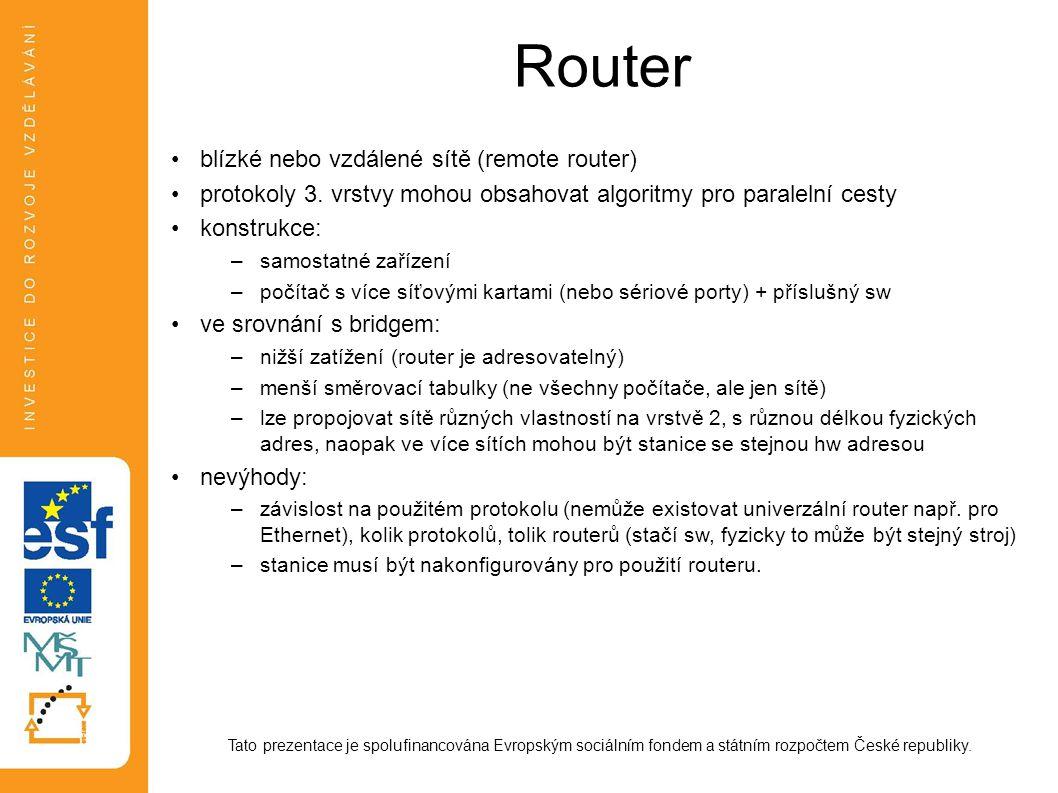 Router blízké nebo vzdálené sítě (remote router)