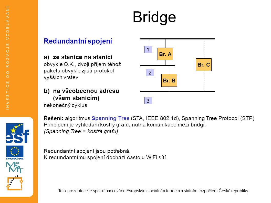 Bridge Redundantní spojení ze stanice na stanici