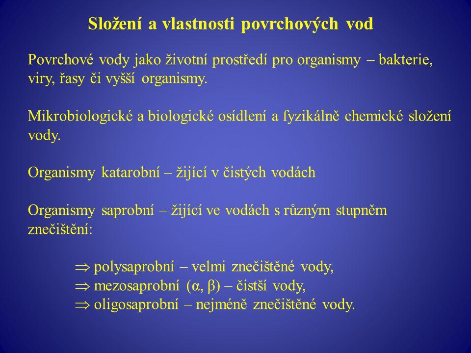 Složení a vlastnosti povrchových vod