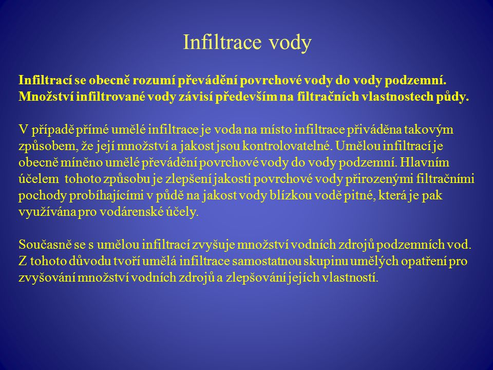 Infiltrace vody