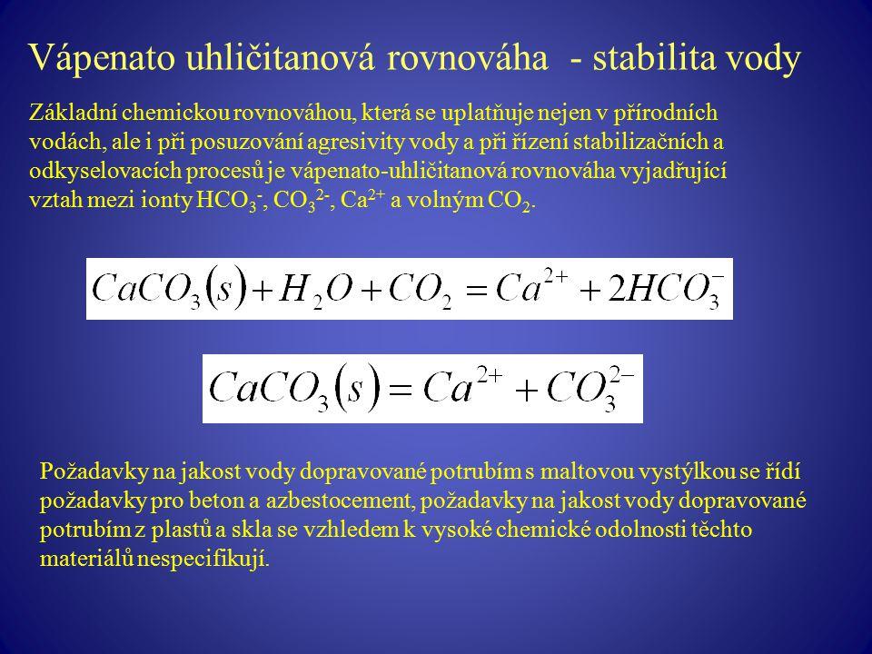 Vápenato uhličitanová rovnováha - stabilita vody