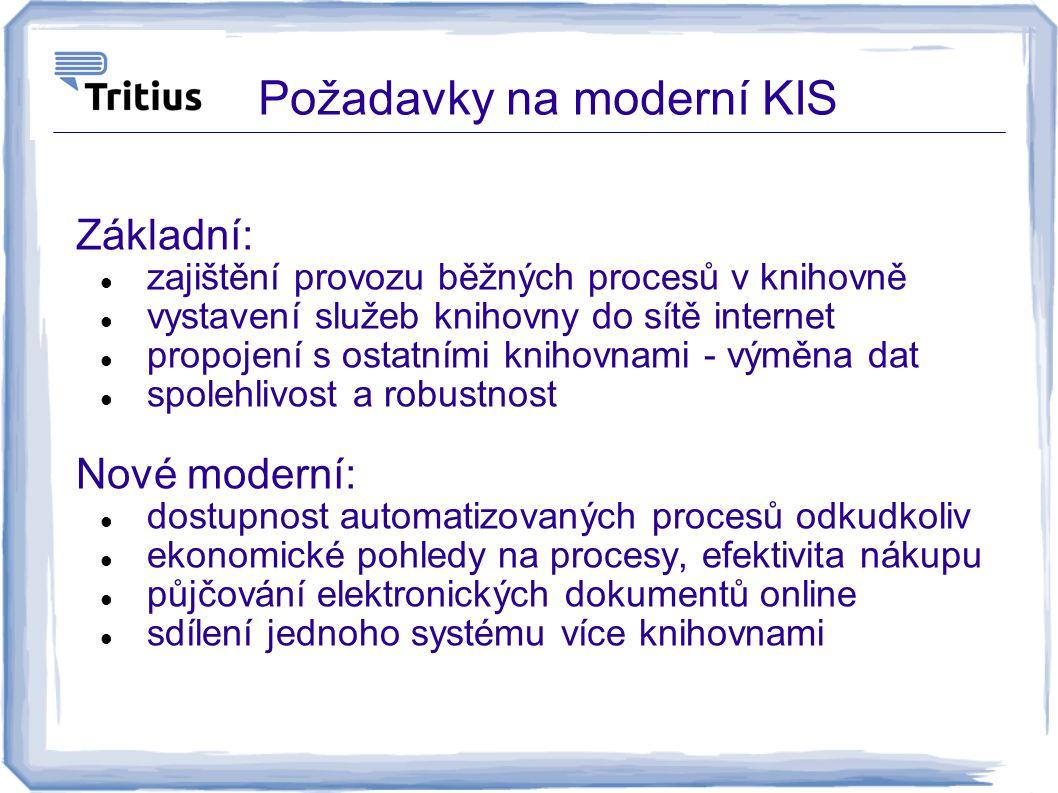 Požadavky na moderní KIS