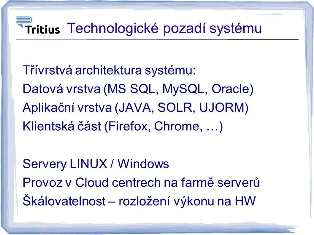 Technologické pozadí systému
