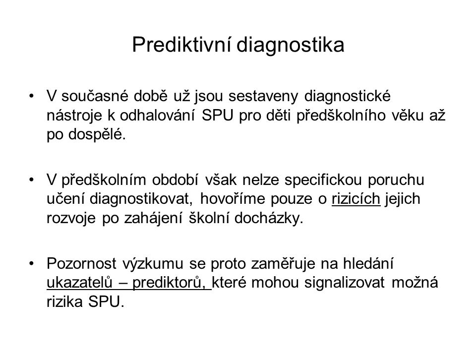 Prediktivní diagnostika