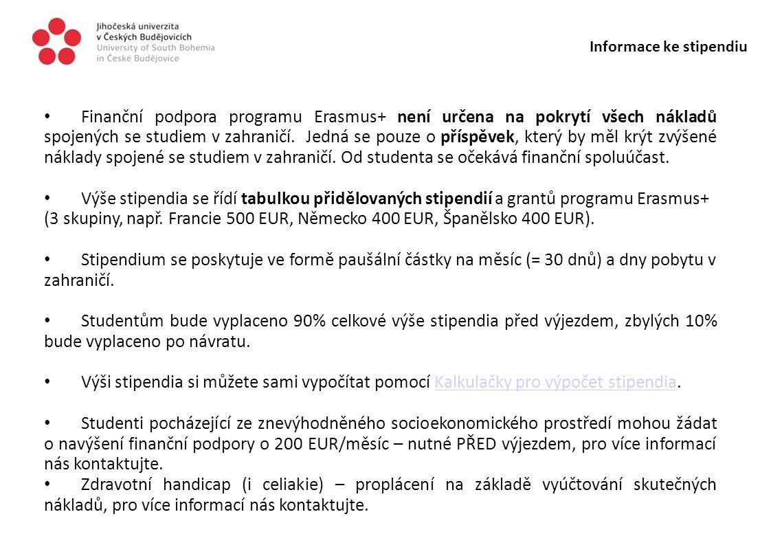 Informace ke stipendiu