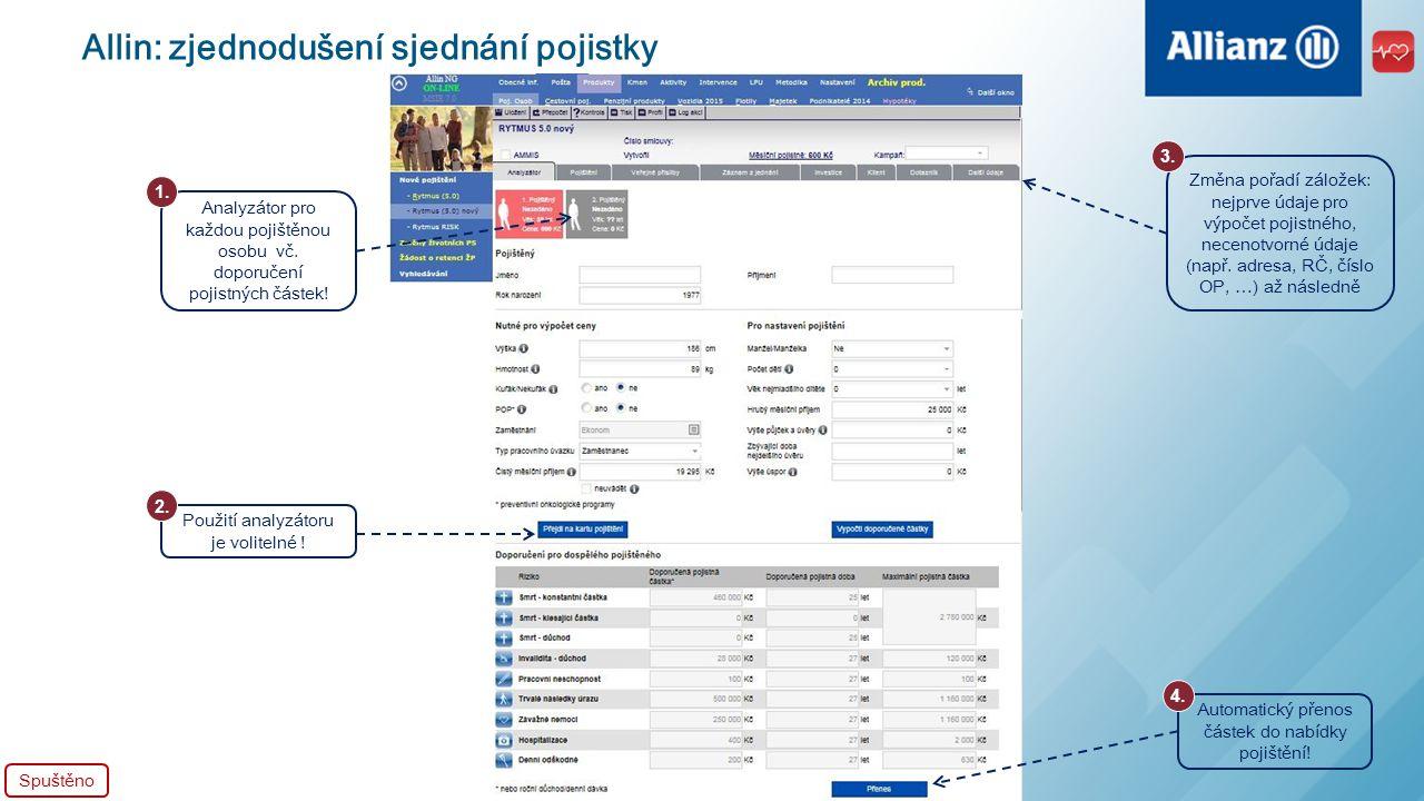 Allin: zjednodušení sjednání pojistky