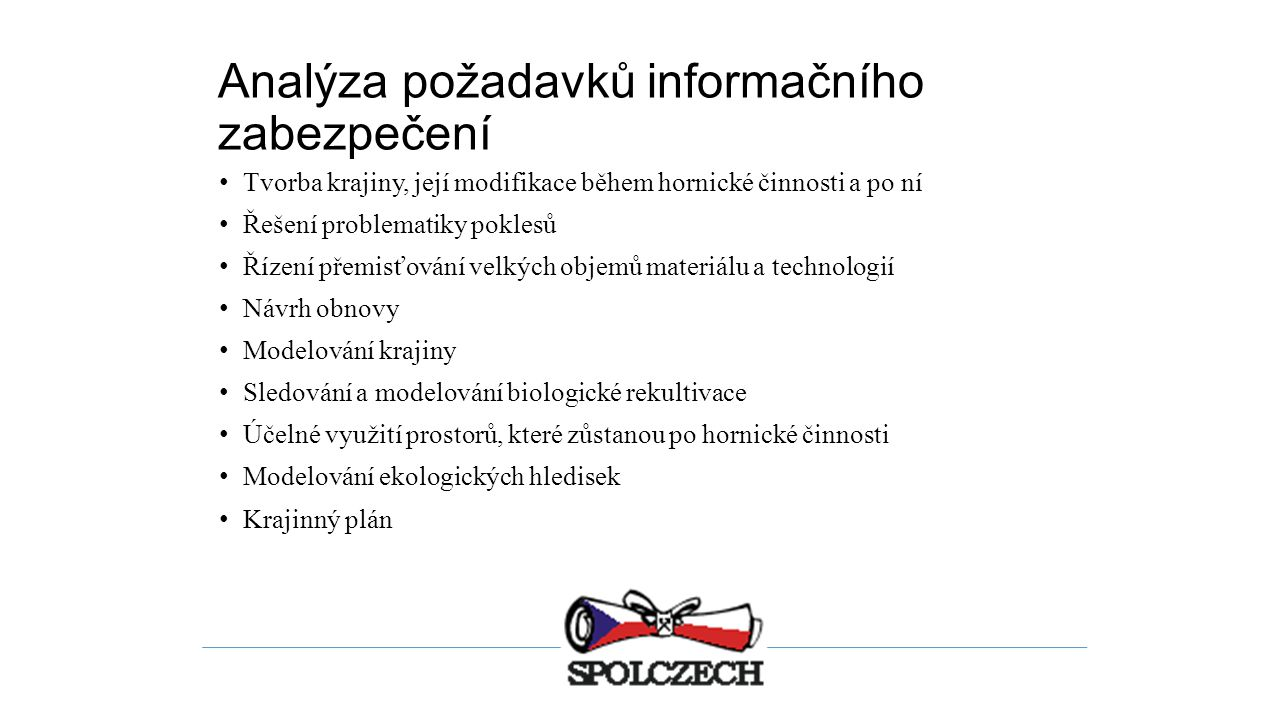 Analýza požadavků informačního zabezpečení