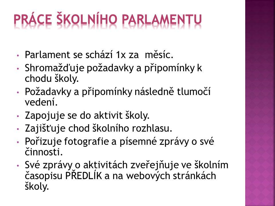 Práce školního parlamentu
