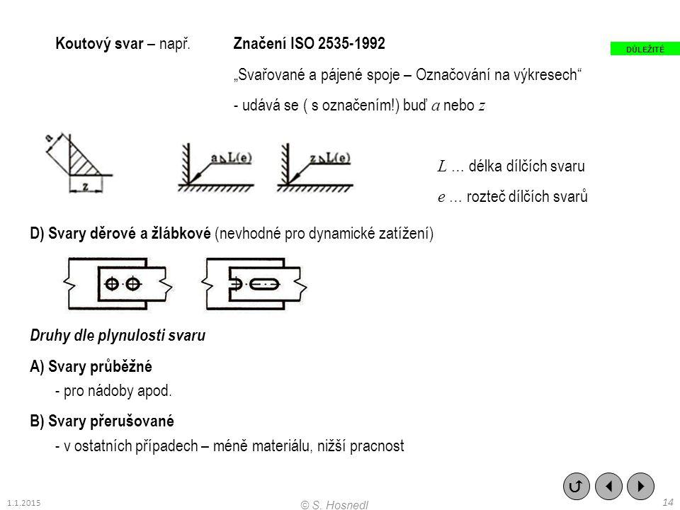 Koutový svar – např. Značení ISO 2535-1992
