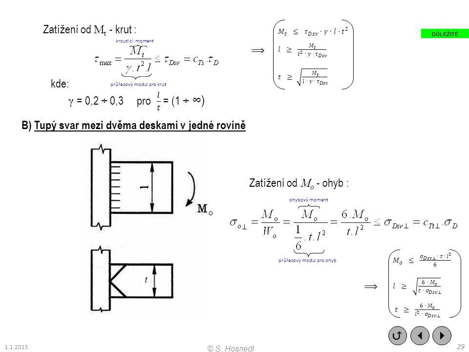 B) Tupý svar mezi dvěma deskami v jedné rovině