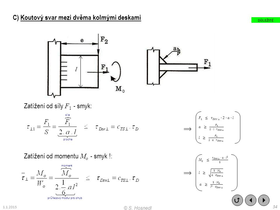 průřezový modul pro ohyb