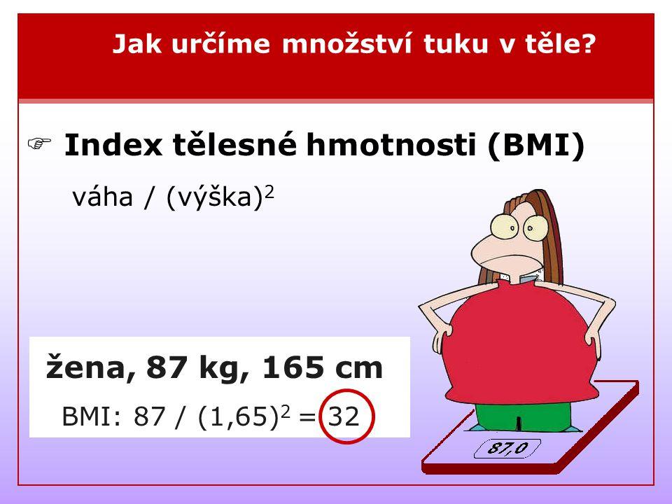  Index tělesné hmotnosti (BMI) váha / (výška)2