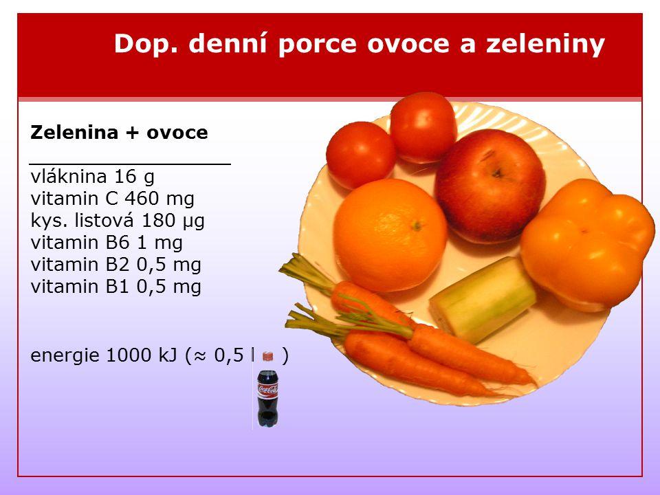Dop. denní porce ovoce a zeleniny