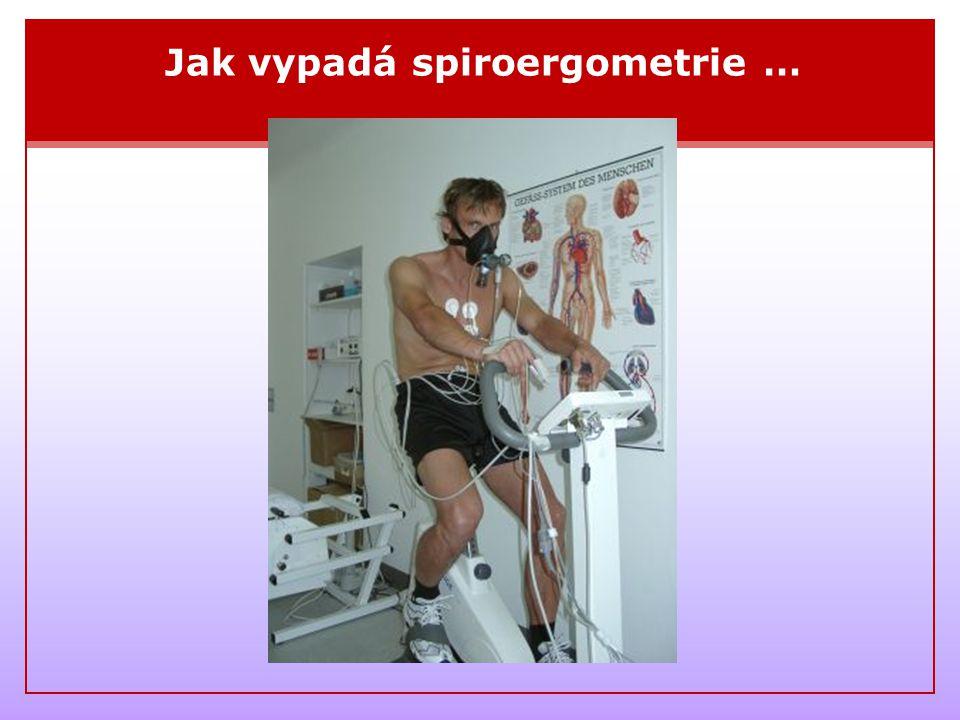 Jak vypadá spiroergometrie …