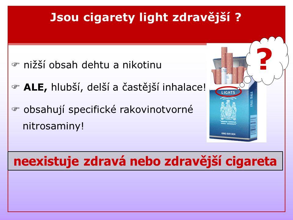 neexistuje zdravá nebo zdravější cigareta