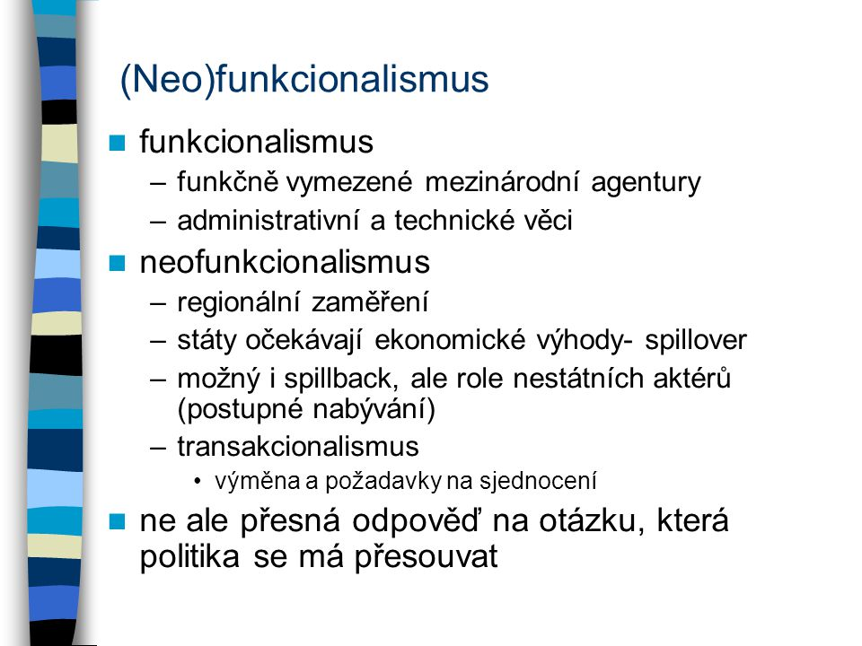 (Neo)funkcionalismus