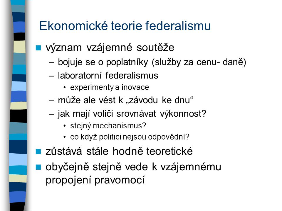 Ekonomické teorie federalismu
