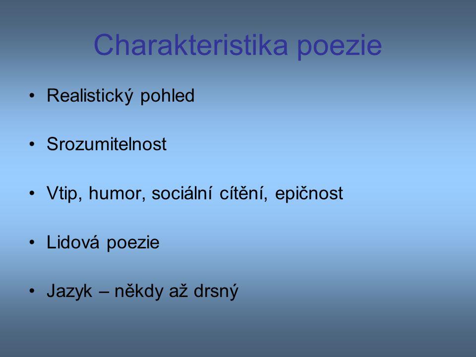 Charakteristika poezie