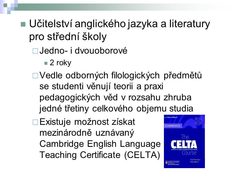 Učitelství anglického jazyka a literatury pro střední školy