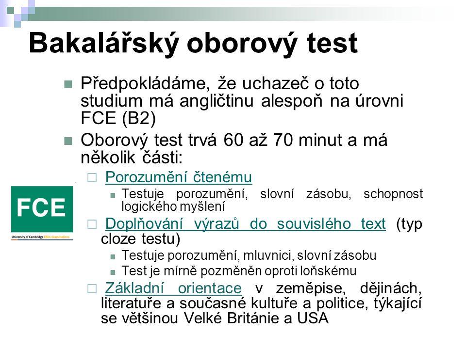 Bakalářský oborový test