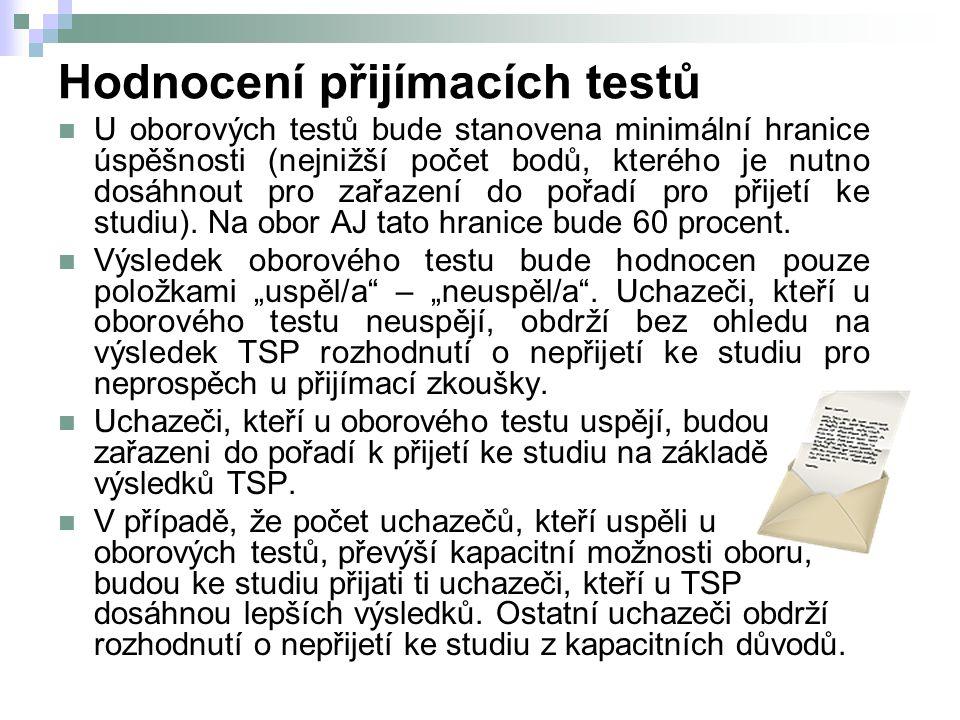 Hodnocení přijímacích testů