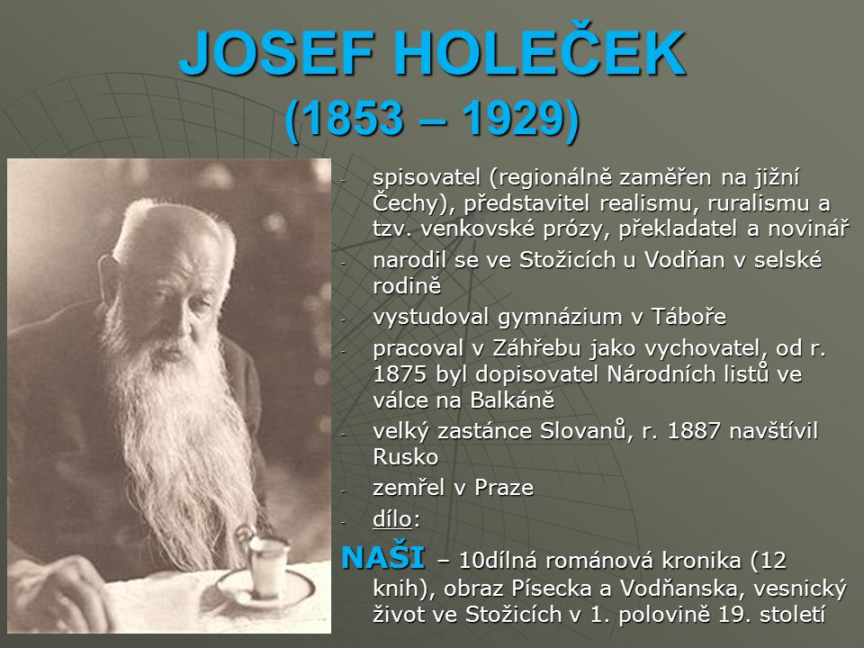 JOSEF HOLEČEK (1853 – 1929)