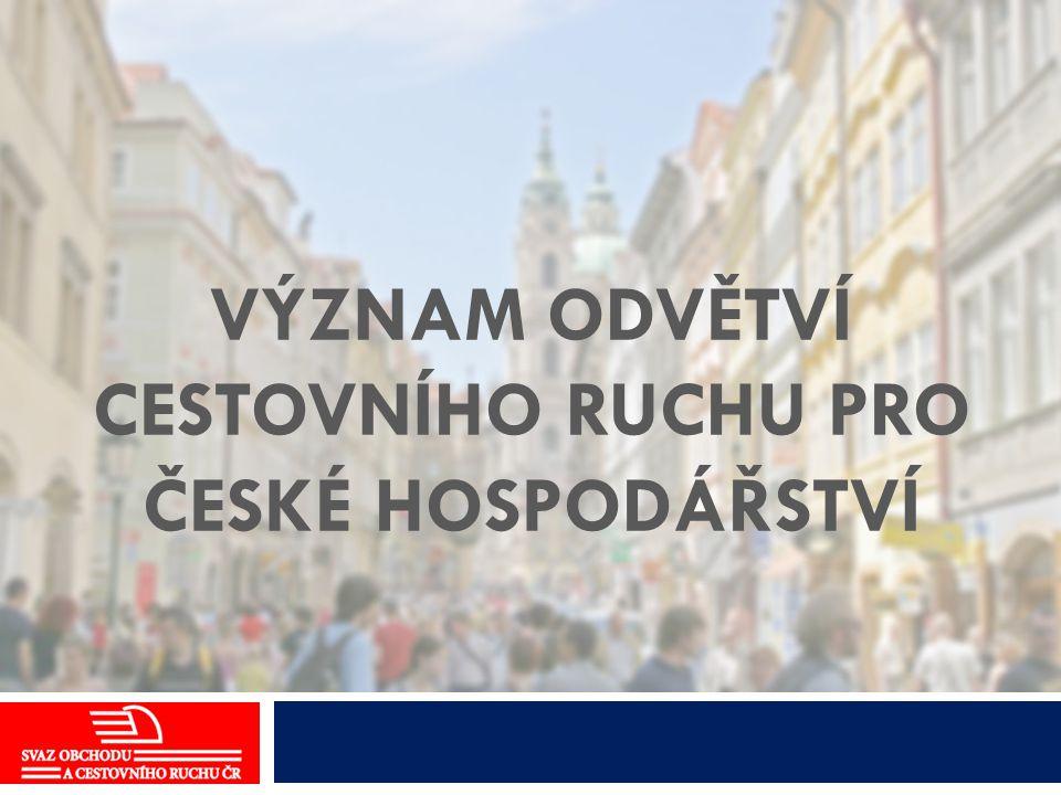 Význam odvětví cestovního ruchu pro české hospodářství