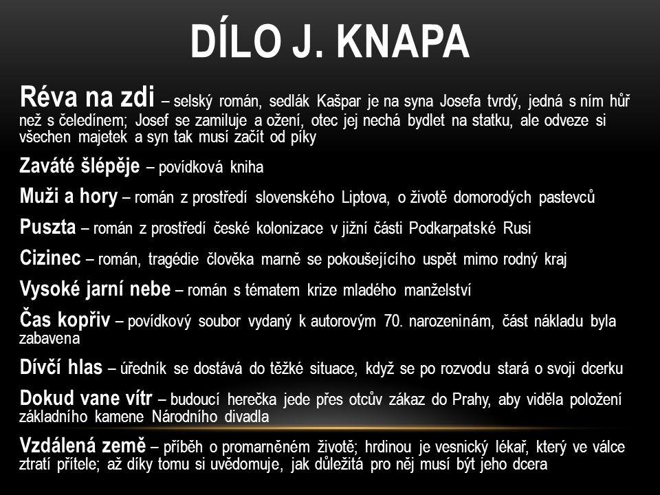 DÍLO J. KNAPA