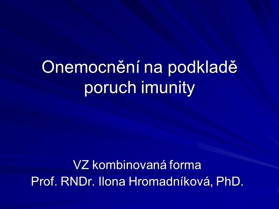 Onemocnění na podkladě poruch imunity