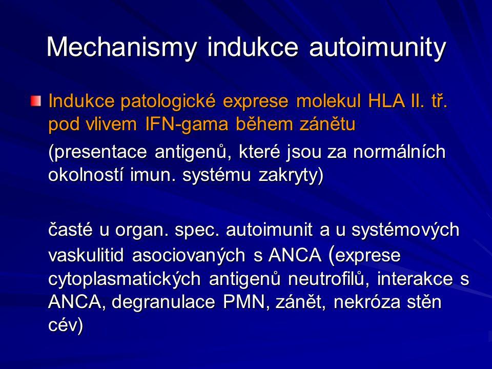 Mechanismy indukce autoimunity