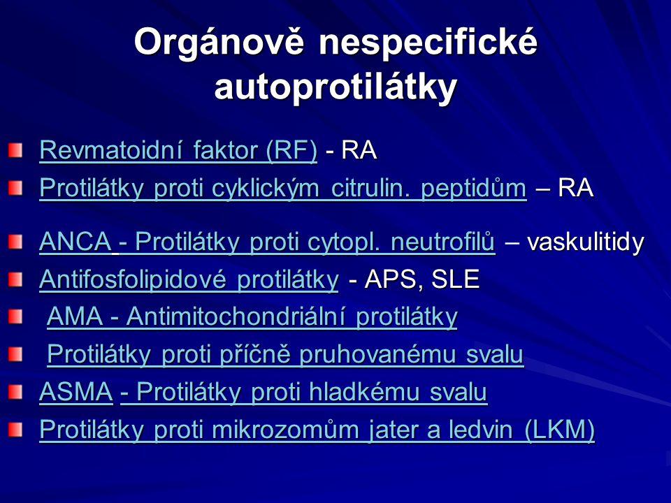 Orgánově nespecifické autoprotilátky