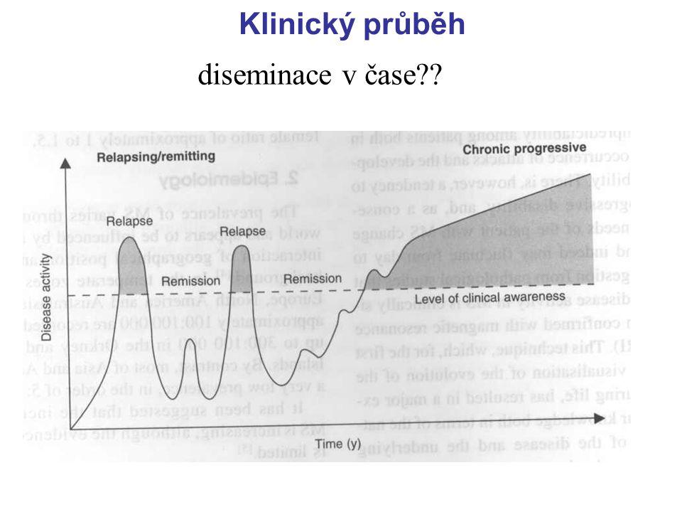 Klinický průběh diseminace v čase