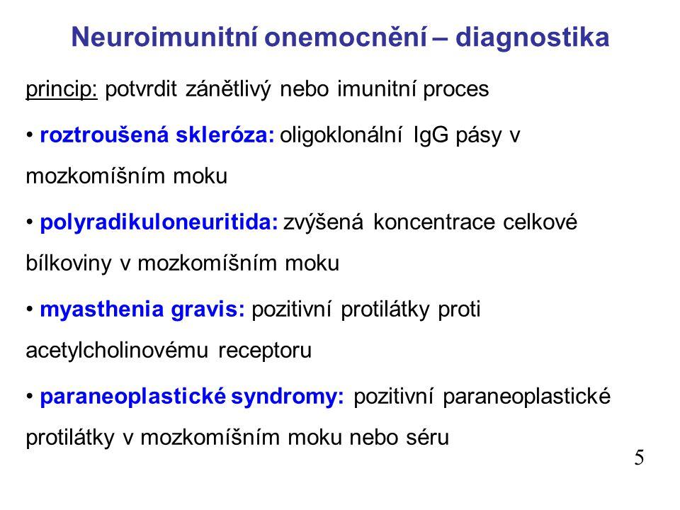 Neuroimunitní onemocnění – diagnostika