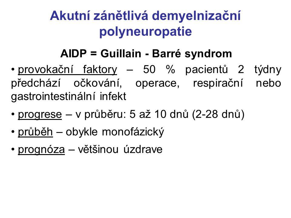 Akutní zánětlivá demyelnizační polyneuropatie