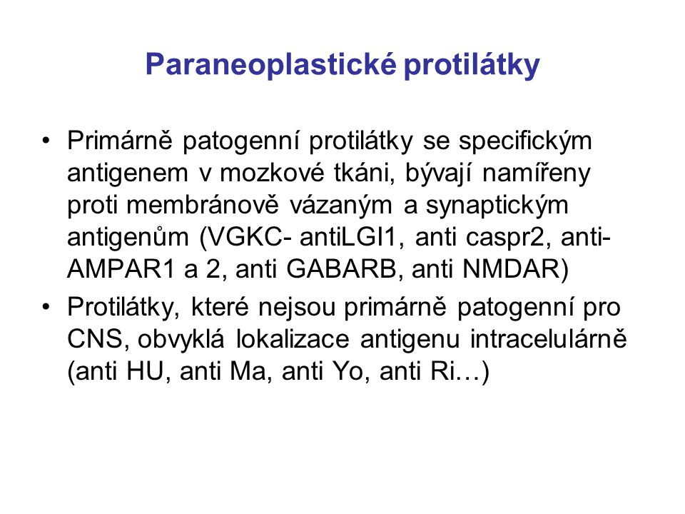 Paraneoplastické protilátky