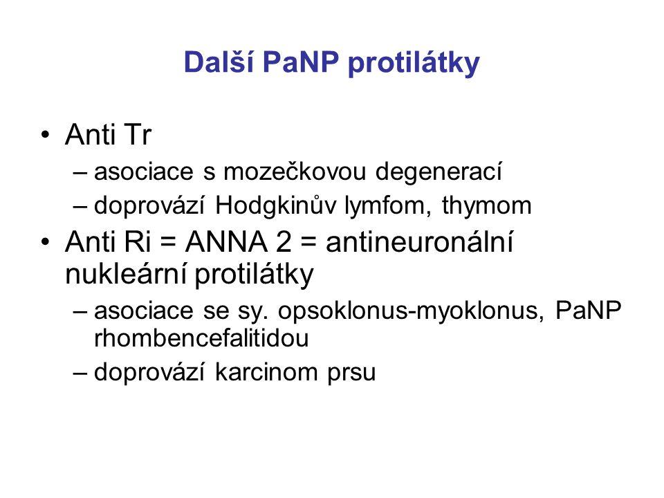 Anti Ri = ANNA 2 = antineuronální nukleární protilátky