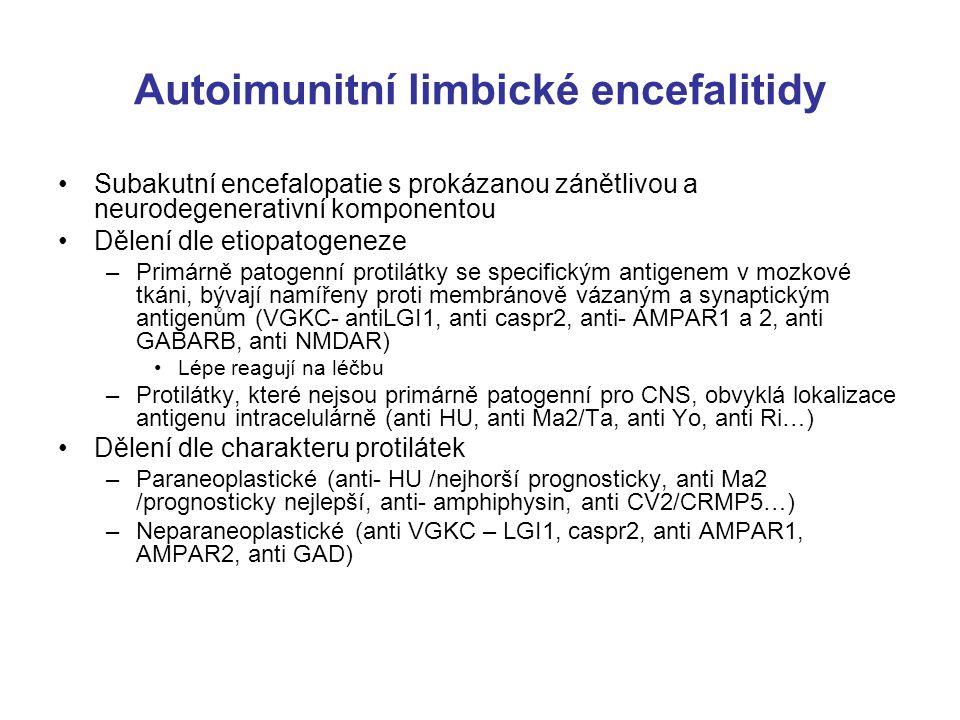 Autoimunitní limbické encefalitidy