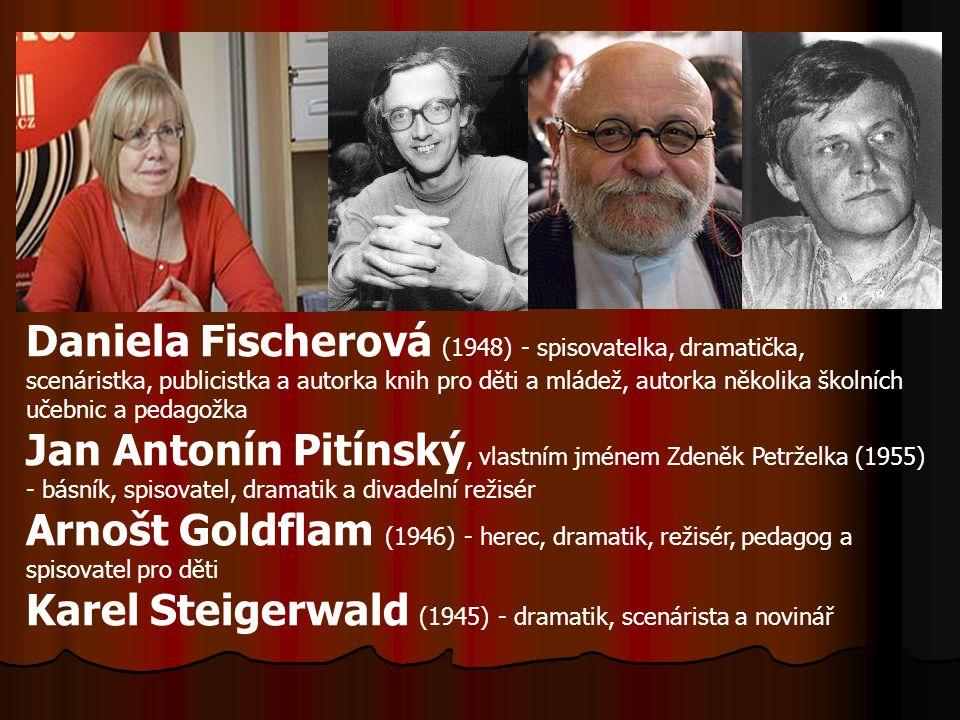 Daniela Fischerová (1948) - spisovatelka, dramatička, scenáristka, publicistka a autorka knih pro děti a mládež, autorka několika školních učebnic a pedagožka