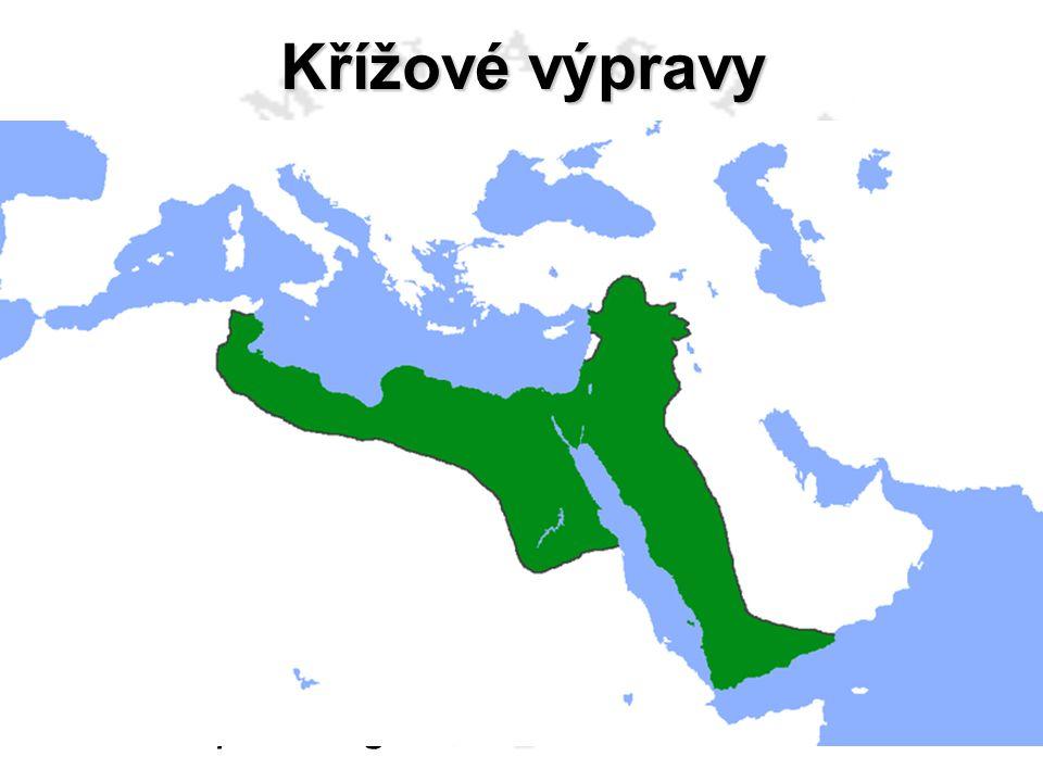 Křížové výpravy 1. výprava 1096 – 1099 2. výprava 1147 – 1149