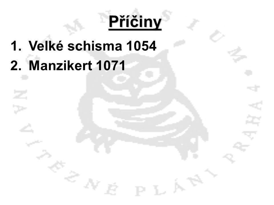 Příčiny Velké schisma 1054 Manzikert 1071