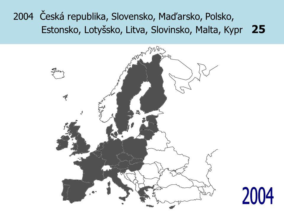2004 Česká republika, Slovensko, Maďarsko, Polsko, Estonsko, Lotyšsko, Litva, Slovinsko, Malta, Kypr 25