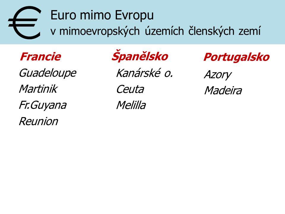 Euro mimo Evropu v mimoevropských územích členských zemí