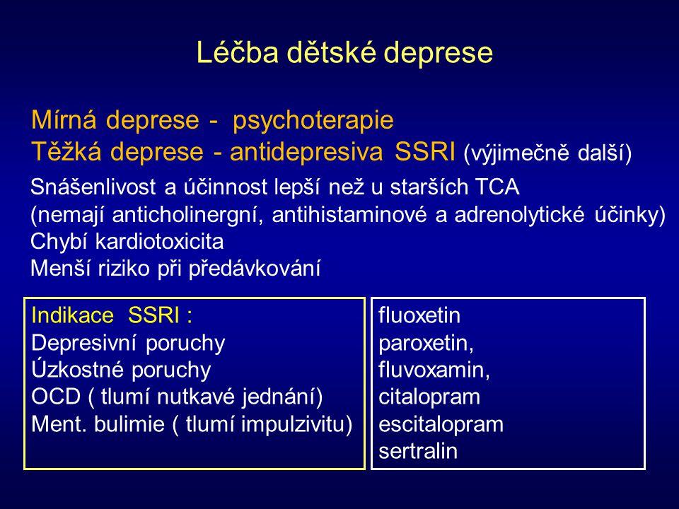 Léčba dětské deprese Mírná deprese - psychoterapie